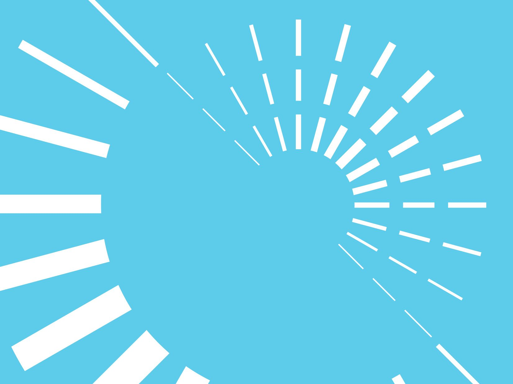 Decorative image of dashed white circles on blue background