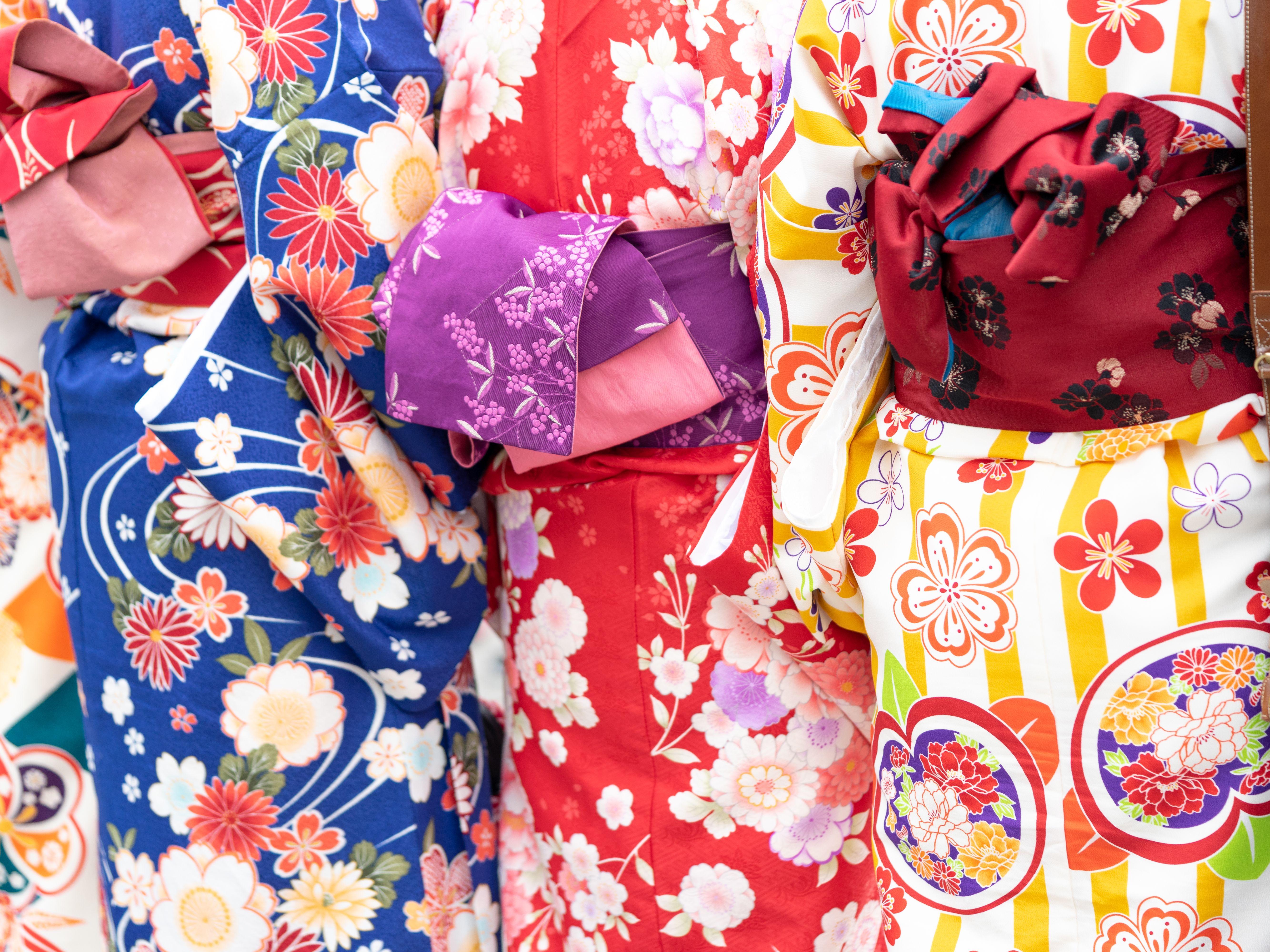 Kimonos, Fabric, Japanese, Colourful, Obi Belt