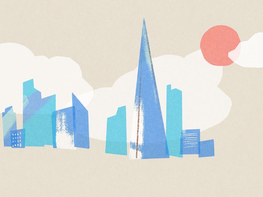 Illustration of the London skyline.