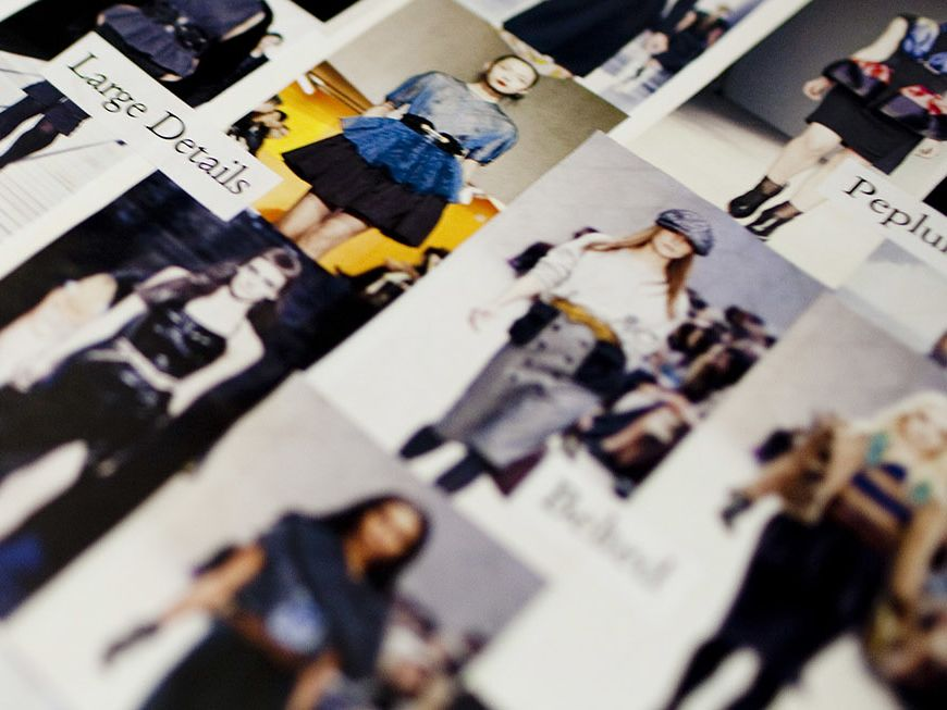 Blurred close up of a fashion magazine. The title of the page reads