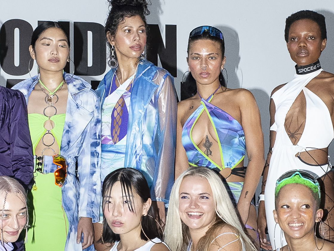 Sinead Gorey and team at London Fashion Week