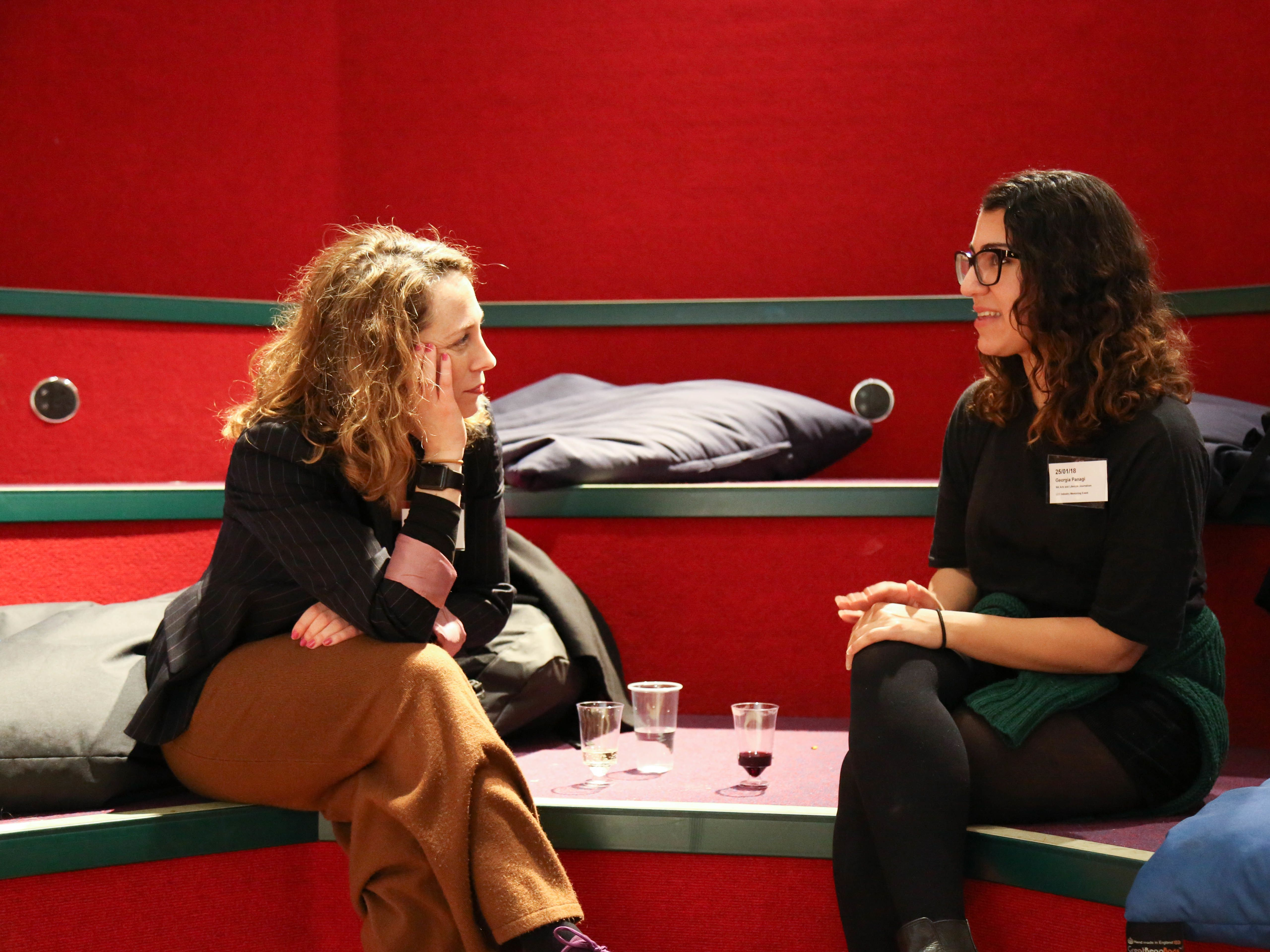 Industry Mentoring Scheme mentor and mentee discuss working in the creative industries