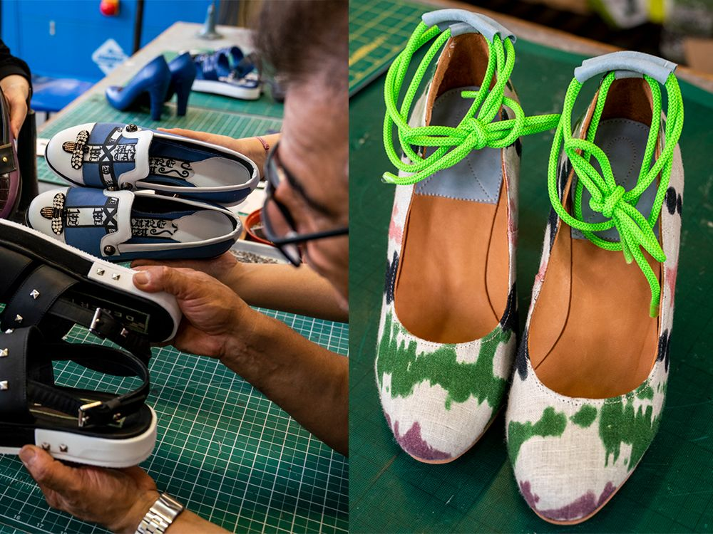 Footwear created by students on course