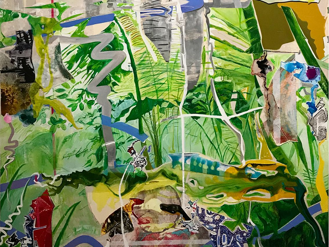 collage painitng