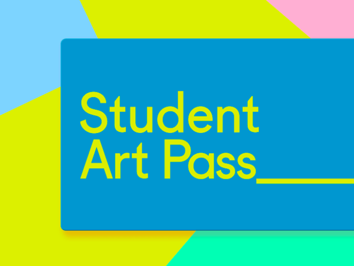 Pastel coloured image of a student art pass
