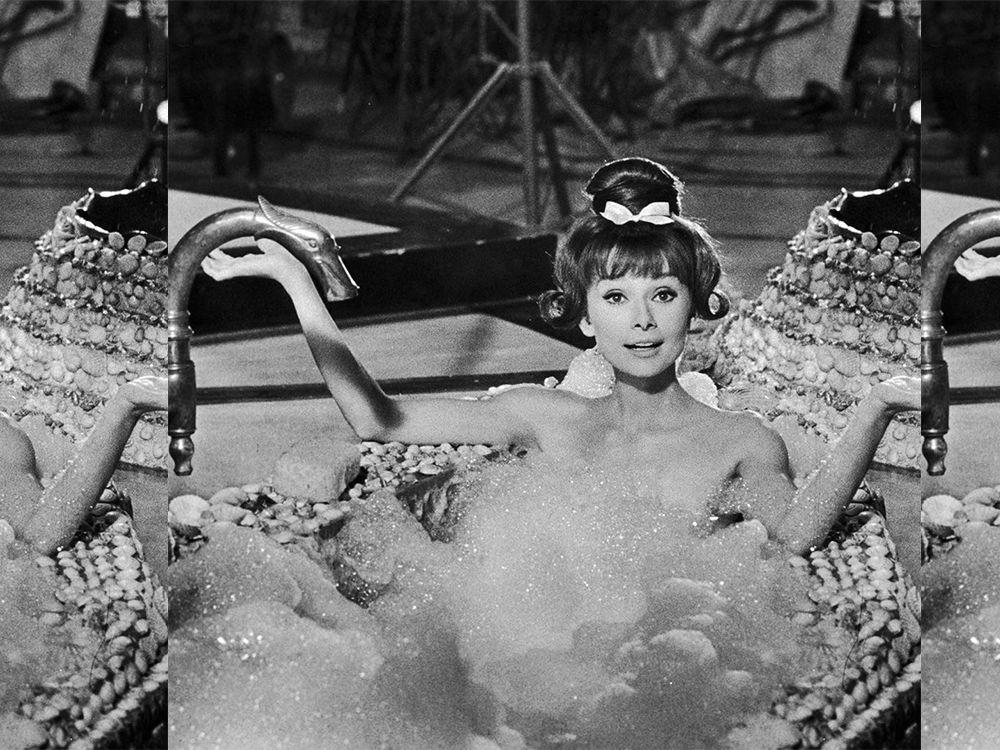Audrey Hepburn relaxing