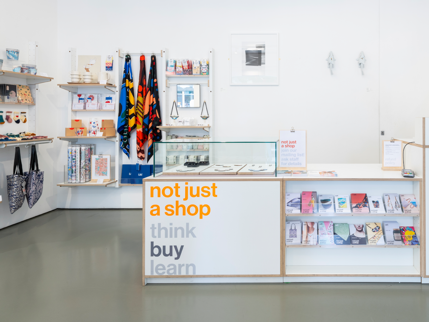 Interior of not just a shop