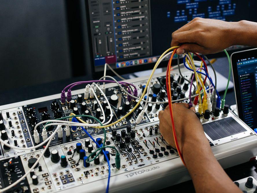 Brandon Mosqueda Caidedo (BA Sound Arts and Design)  at work