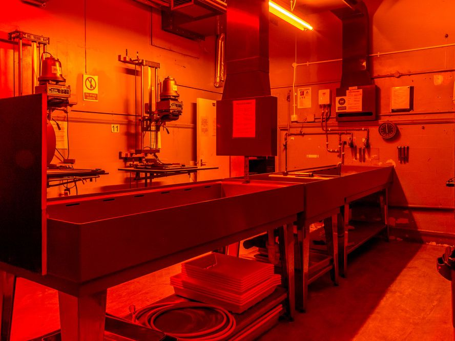 Darkroom facilities at Camberwell.