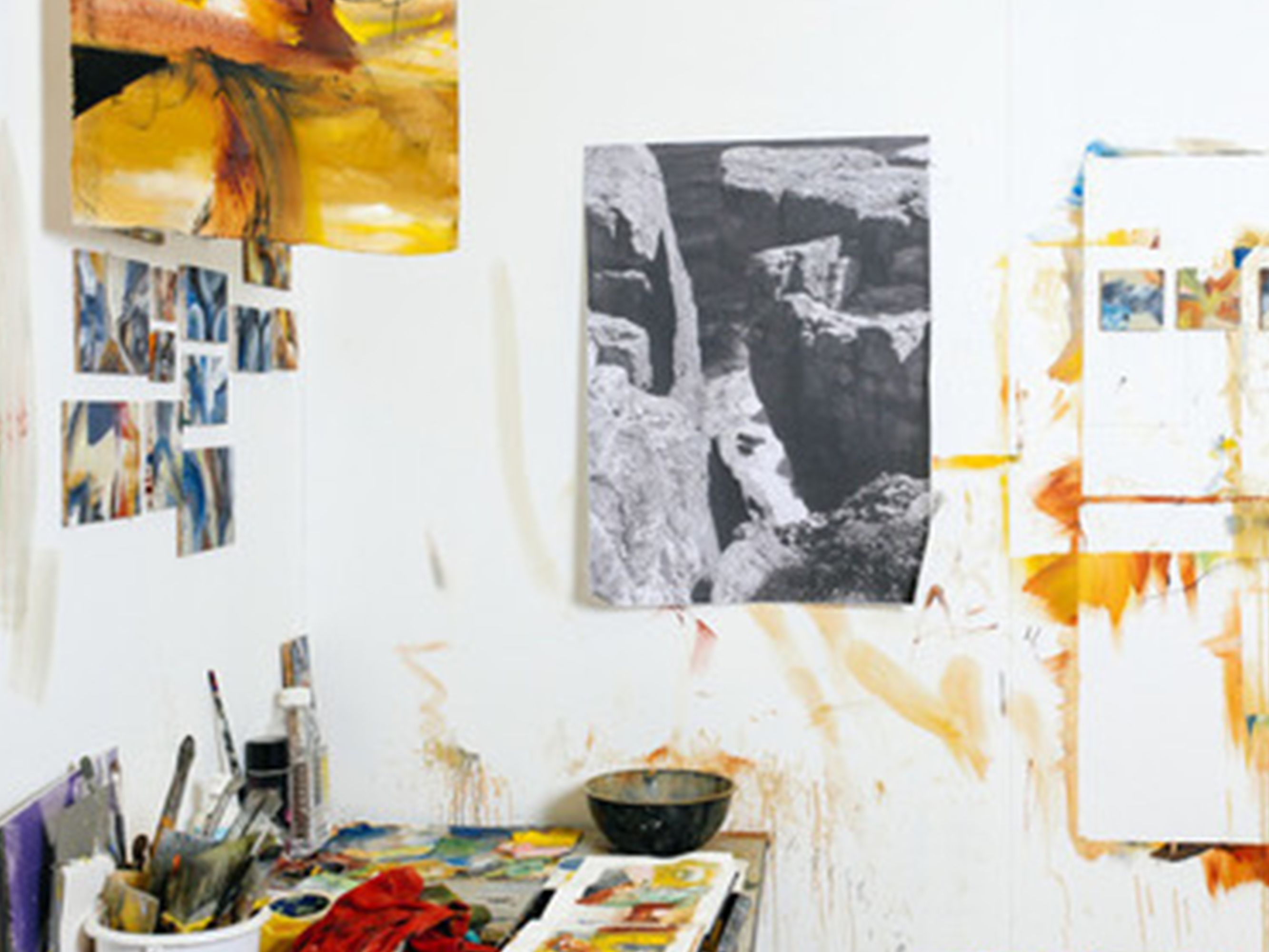 Photo of work in a studio