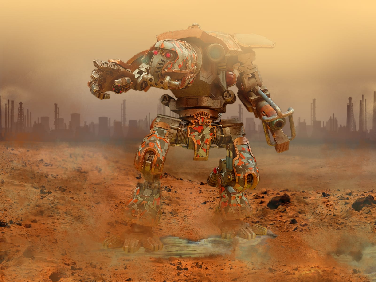 Digital drawing of a robot by Thomas Bull - BA Production Arts for Screen.