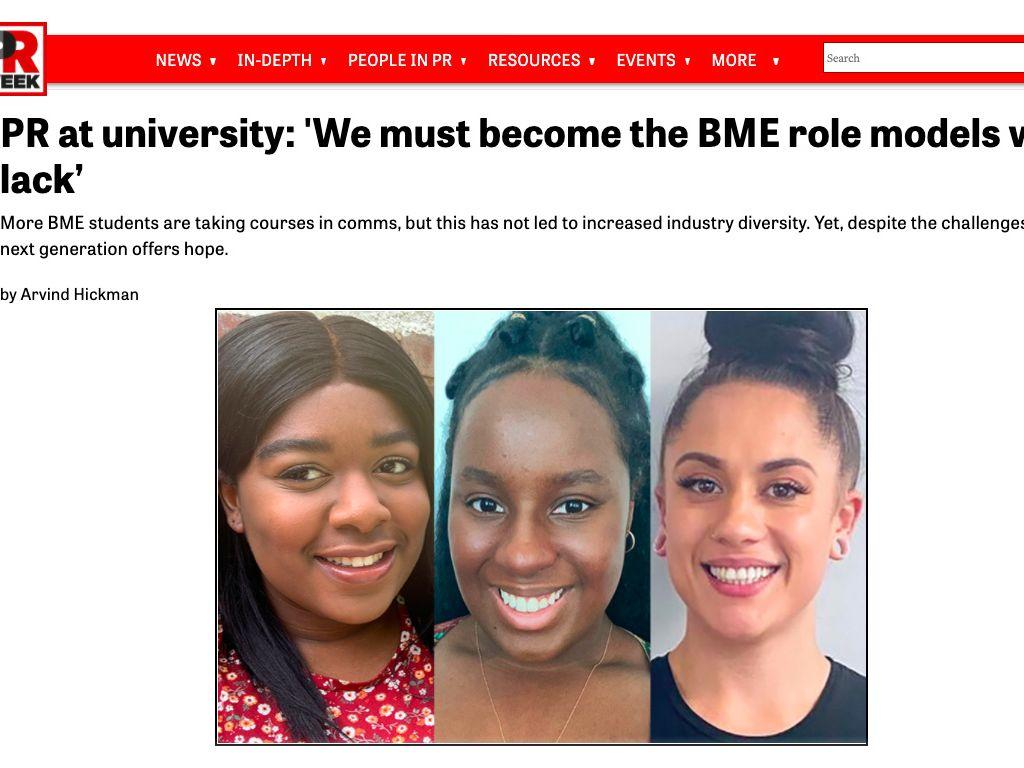 A screenshot of the original article in PRWeek UK.