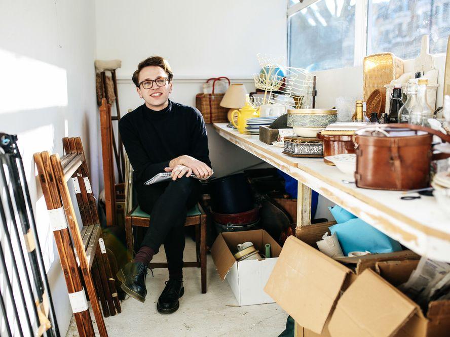 Bradley Vine in the studio