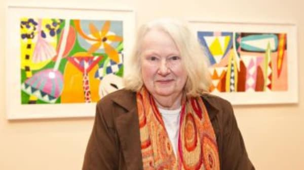 Gillian Ayres, Victoria Art Gallery, Bath 2012, image courtesy of Alan Christea Gallery
