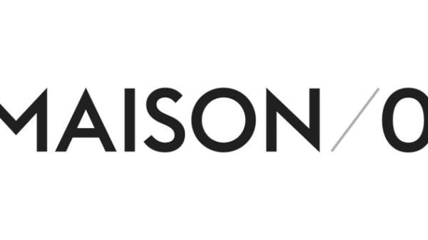 Black text on white background saying Maison/0