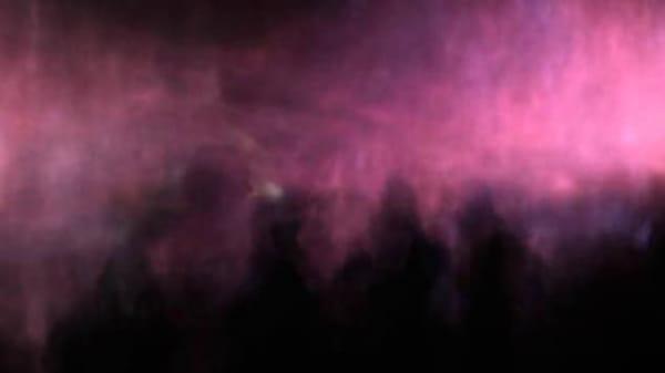 Pink lit fog