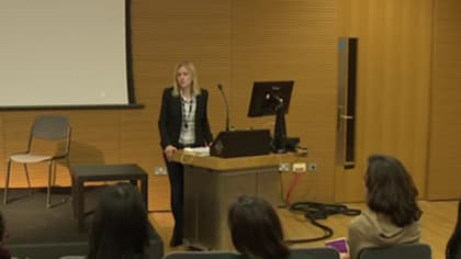 Co-Course Leader Charlotte Bonham Carter leading open day lecture