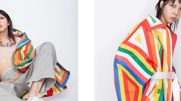 Rainbow coloured womenswear by Qinling Du