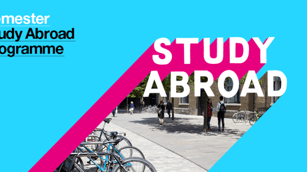 Colourful graphic with Semester Study Abroad Programme text