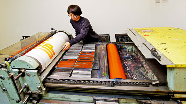 London College of Communication Letterpress studio. Image courtesy of UAL