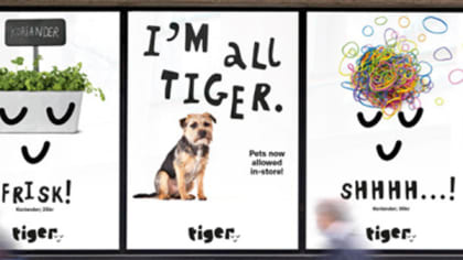 Three posters designs for the shop Tiger