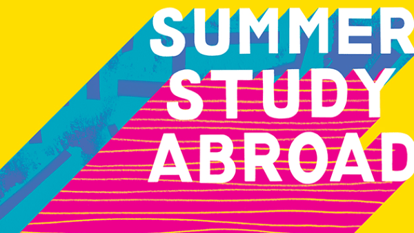 Colourful graphic with Summer Study Abroad text