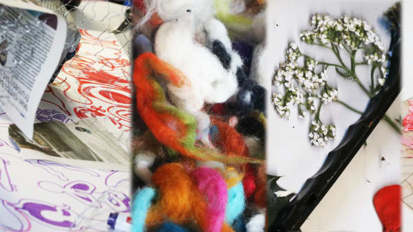 Examples of student art work made by teenage students.