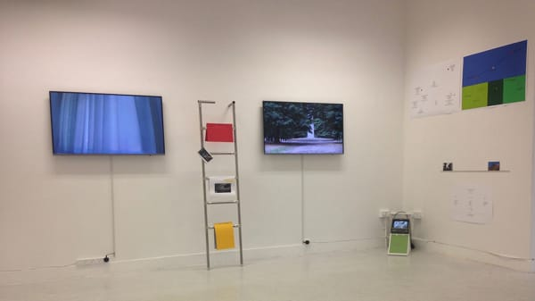 Installation Photograph: 'Work-Out in Parallax_2' by Gill Addison