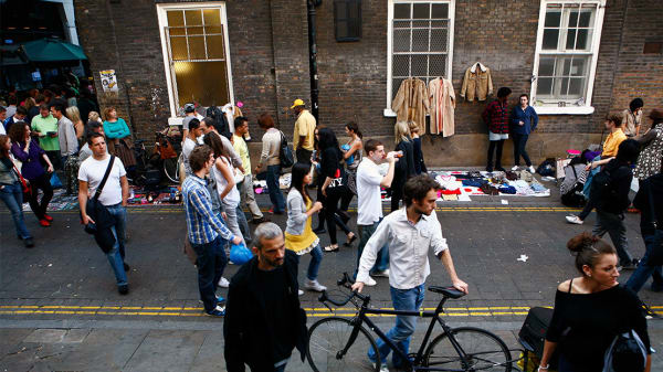People in east London's Brick Lane. Image courtesy of UAL