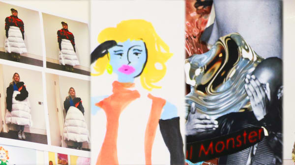 Examples of Fashion Styling and Communication work created by teenage students.