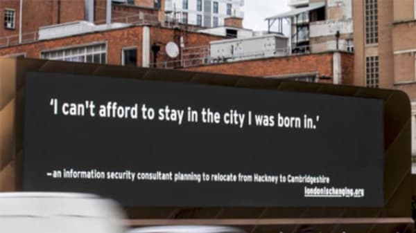 Advert declaring - I can't afford to stay in the city I was born in