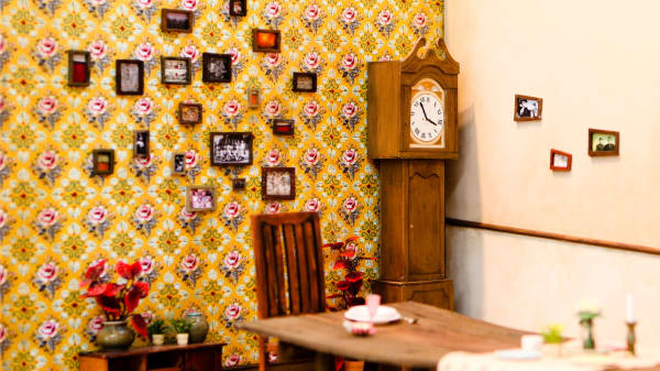 Image of a room with grandfather clock
