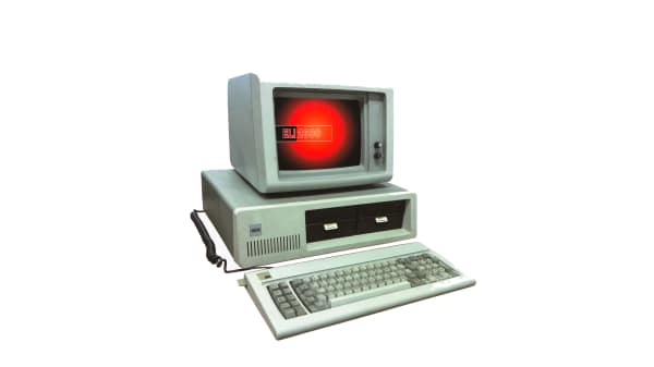 An old fashioned computer - image for web design short courses at London College of Communication