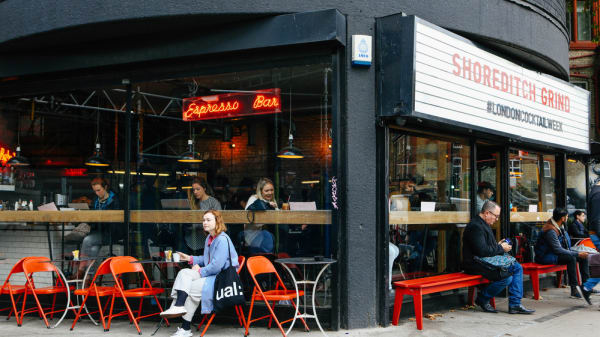 A coffee shop exterior