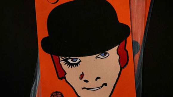 Graphic of man's face from Stanley Kubrick's film 'A Clockwork Orange'