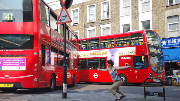 Red London buses