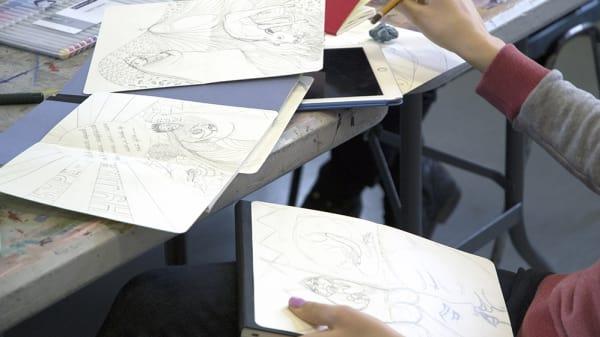 Illustration - Drawing in Public