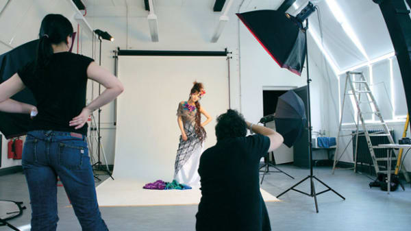Photography LCF Student in Studio
