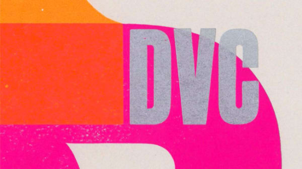 Pink, red and orange cover of the 2015 Design for Visual Communication publication.