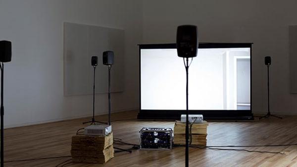 Image of a video art installation by Hannah Rickards