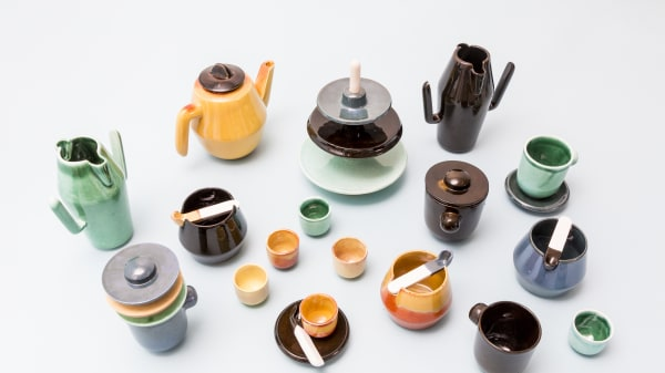 Collection of ceramic pots and cups