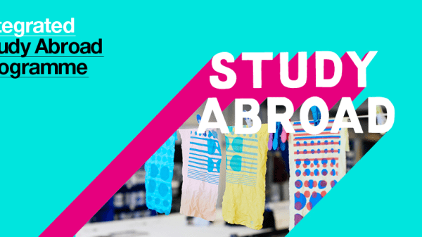 Colourful graphic with Integrated Study Abroad Programme text
