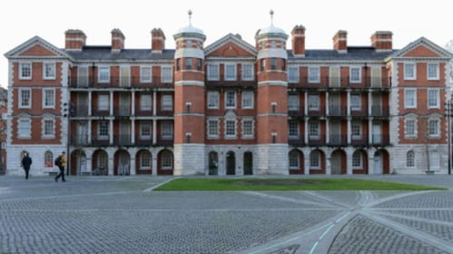 Exterior shot of the Parade Ground at Chelsea College of Art