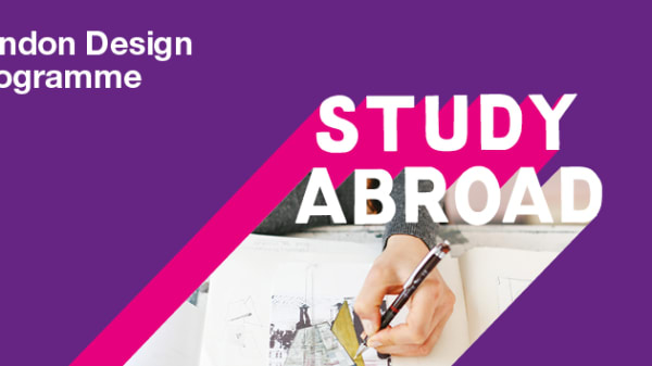 Study Abroad London Programme purple graphic