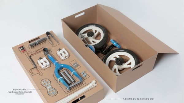 An open box which is displaying different bike tools