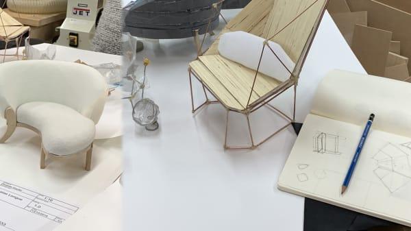Student furniture design work