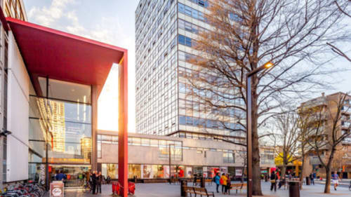 Exterior shot of the London College of Communication building in Elephant and Castle