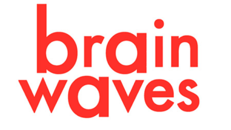 Brain Waves written in fluorescent coral colour