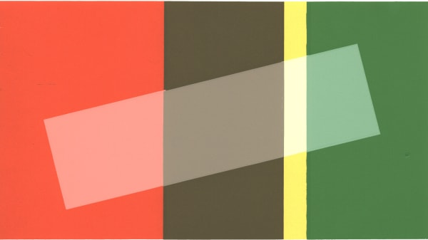A rectangle made up of blocks of boldcolours