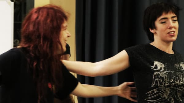 Acting students performing